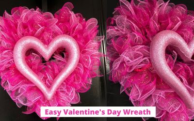 Dollar Tree Heart Wreath DIY