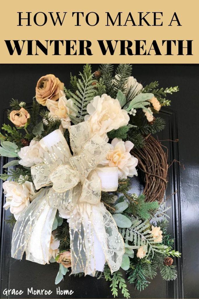 DIY Winter Wreath Tutorial for Your Front Door