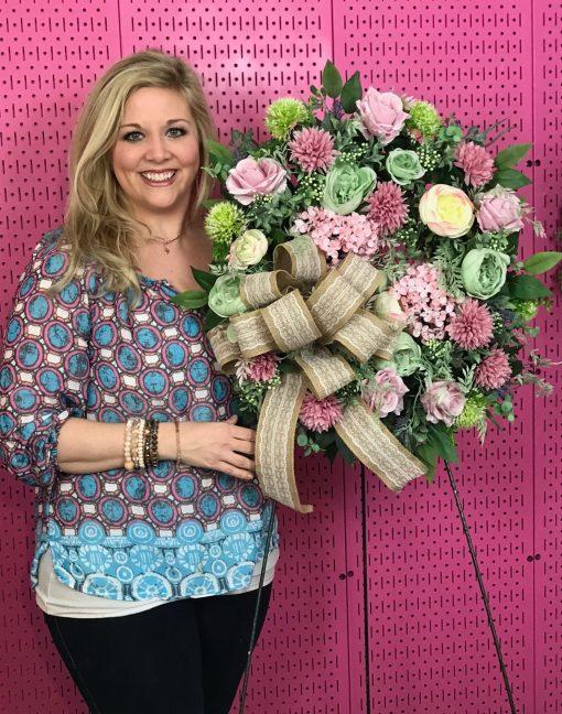 Designer Spring Wreath