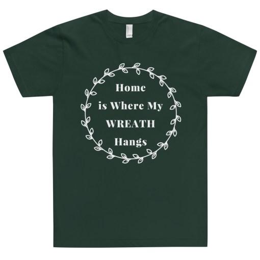 Green Wreath T-Shirt for Women