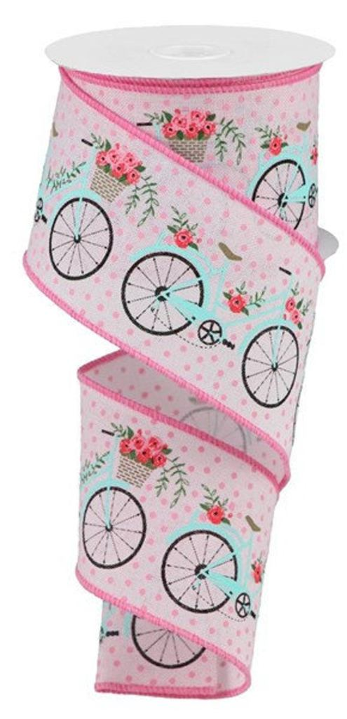 Adorable Pink & Blue Spring Bicycle Ribbon