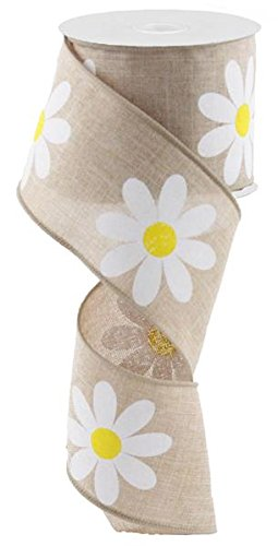 Adorable Daisy Burlap Ribbon