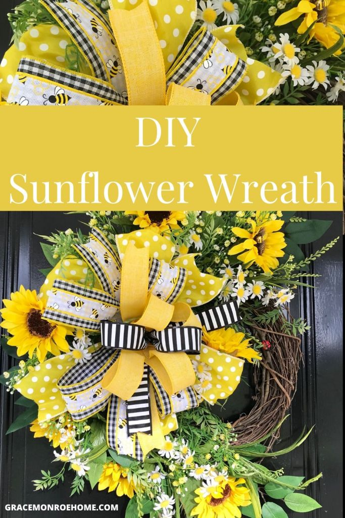 Learn to Make a Beautiful Sunflower Wreath for Your Door!