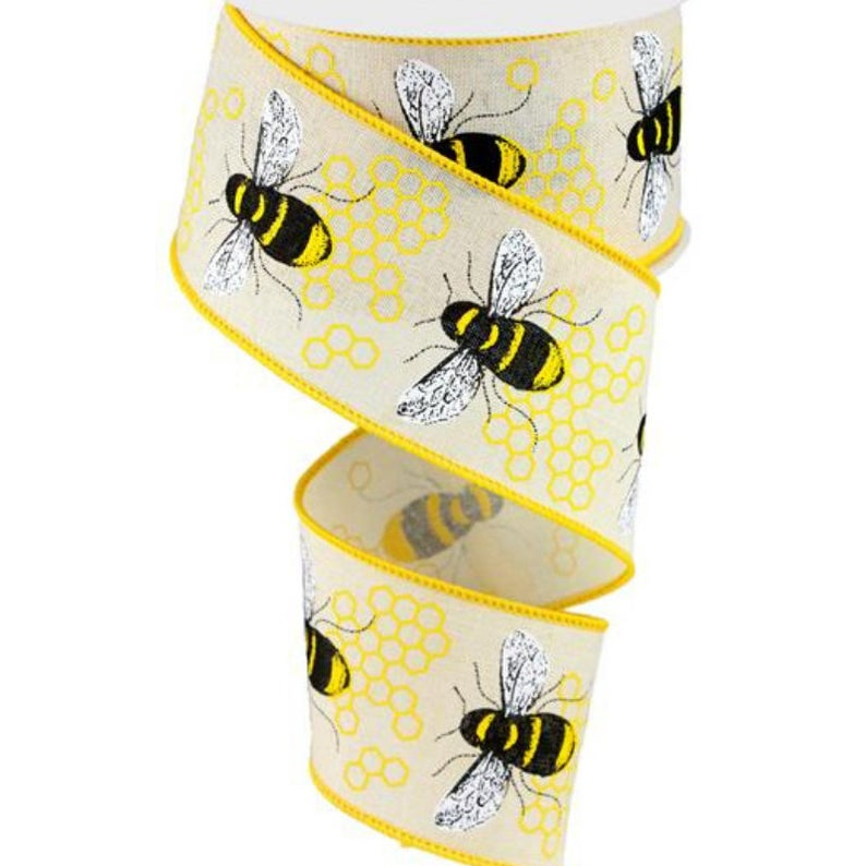 Bumble Bee Ribbon for Summer Wreaths & Bows