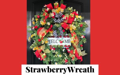 DIY Strawberry Wreath