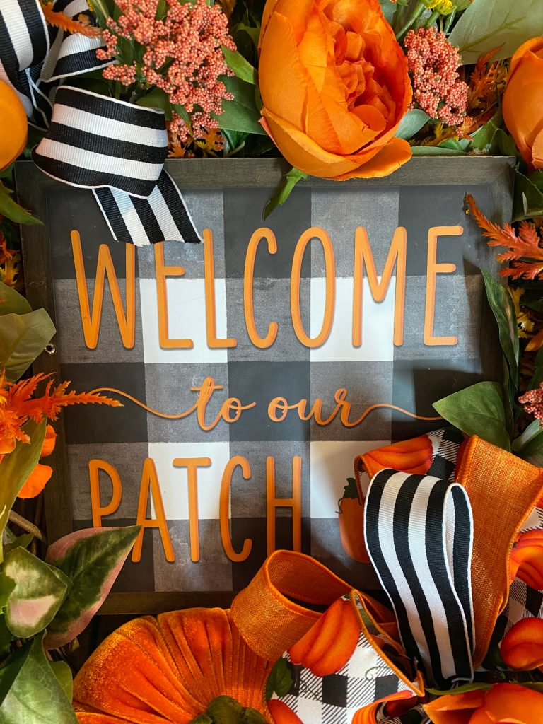 Welcome to The Patch Fall Sign