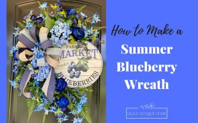 DIY Blueberry Wreath