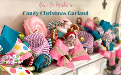 DIY Candy Christmas Garland
