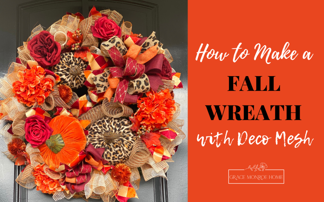 DIY Fall Wreath with Deco Mesh