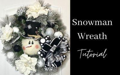 How to Make a Snowman Wreath