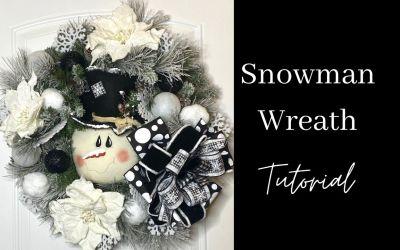How to Make a Snowman Wreath
