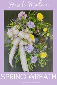 Learn to create a beautiful spring wreath