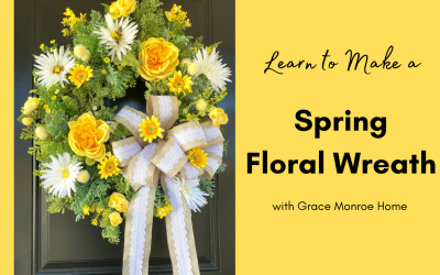 Spring Floral Wreath Tutorial