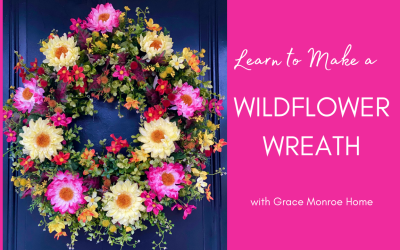How to Make a Faux Wildflower Wreath