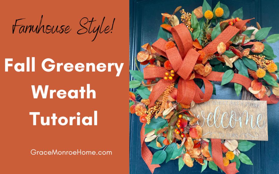 DIY Fall Greenery Wreath