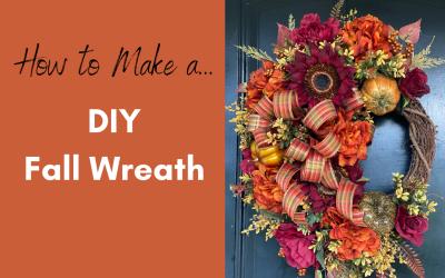 Fall Door Wreath Tutorial