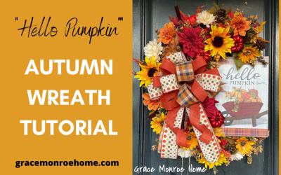 DIY Autumn Wreath Tutorial