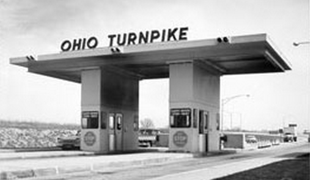 Ohio turnpike toll booth - vintage