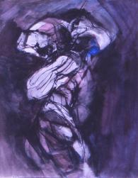 Grace Renzi : N° 148 : 1973, black ink, watercolor, 30 x 25 cm.