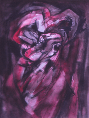 Grace Renzi : N° 165 : 1974, black ink, watercolor, 30 x 25 cm.