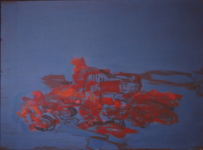 Grace Renzi : N° 167 : 1975, acrylic on canvas, 60 x 81 cm.