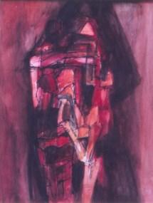 Grace Renzi : N° 173 : 1975, watercolor and black ink, 32 x 25 cm.