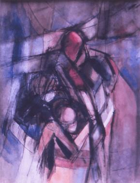 Grace Renzi : N° 175 : 1975, black ink, watercolor, 30 x 25 cm.