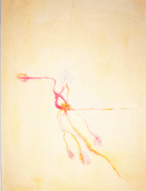 Grace Renzi : N° 215 : acrylic on paper, 32 x 25 cm.