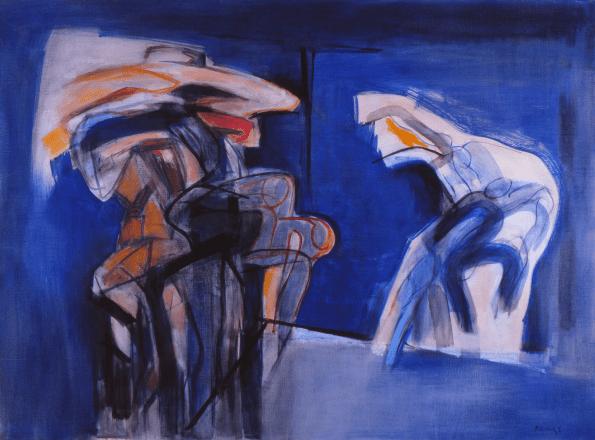 Grace Renzi : N° 217 : 1985 (1975 ?), oil on canvas, 97 x 130 cm.