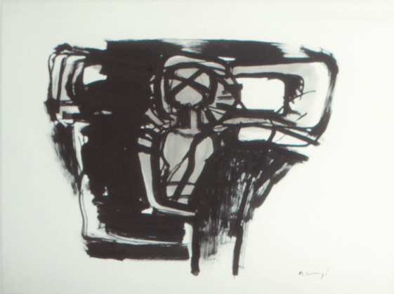 Grace Renzi : N° 239 : 1980's, black ink, 56 x 76 cm.