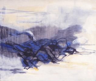 Grace Renzi : N° 253 : 1980's, oil(?) on canvas, 45 x 60 cm.