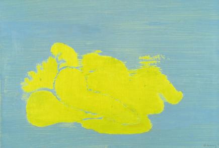 Grace Renzi : N° 265 : mid-1980's, acrylic on canvas, 50 x 73 cm.