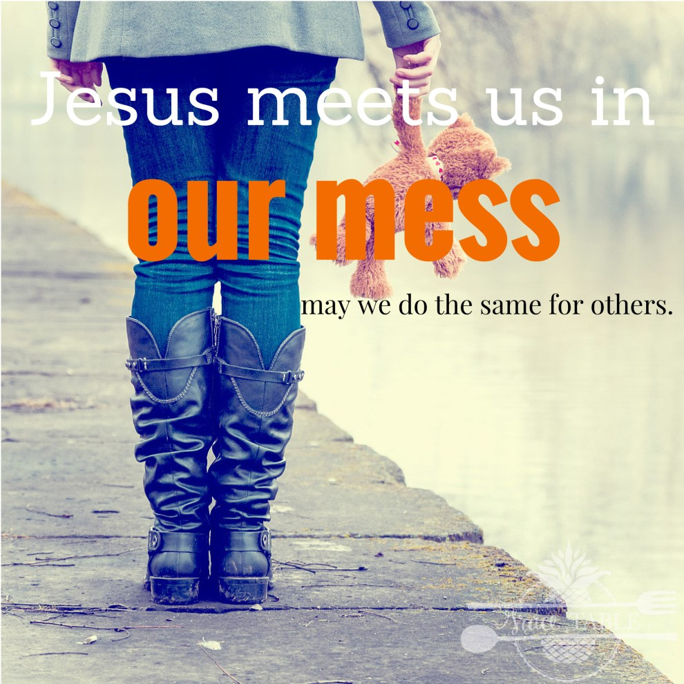 Jesus meets us in