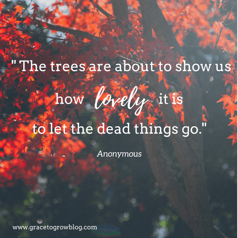 Let the Dead Things Go || Grace to Grow Blog