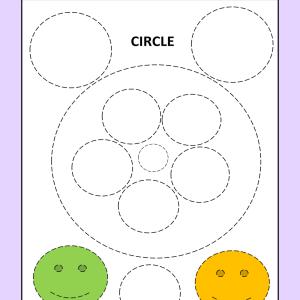 circle tracing worksheet free