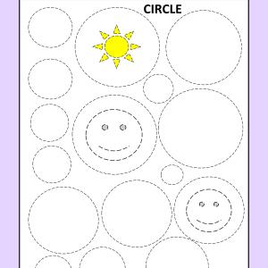 tracing circle worksheet nursery