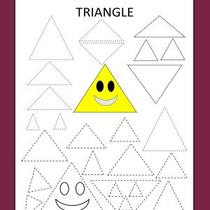 triangle tracing worksheet toddlers