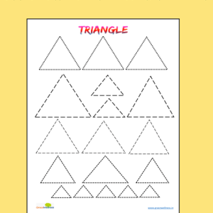 triangle tracing worksheet free