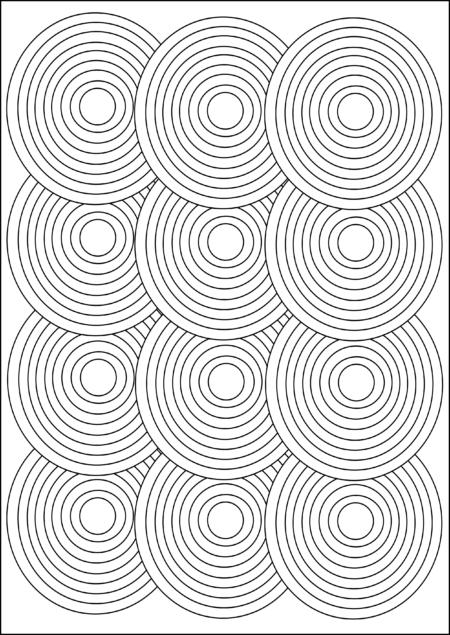 circle pattern geometric adult coloring page