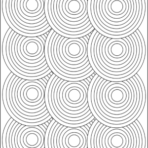 circle pattern geometric adult coloring page