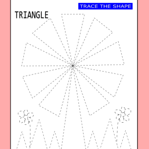 tracing shapes worksheet triangle