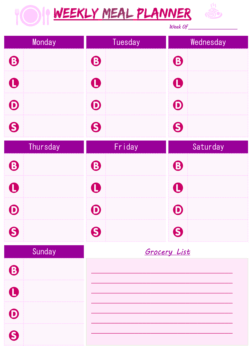 weekly meal planner free download