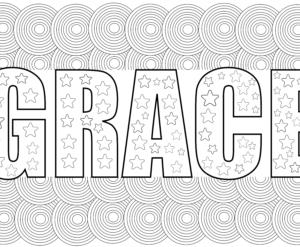 grace coloring page pdf
