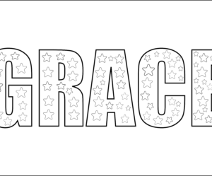 inspiring word grace coloring page