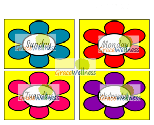 days of the week flashcard pdf printable download