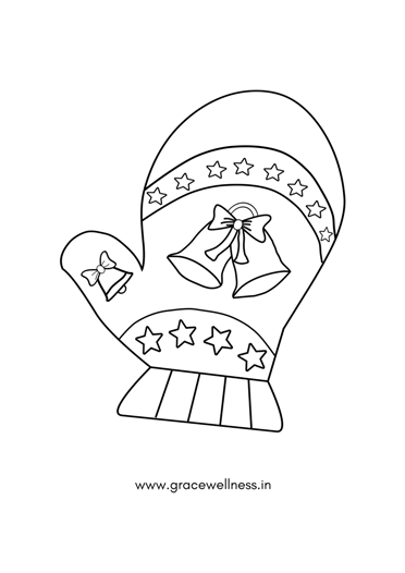 winter mittens coloring page