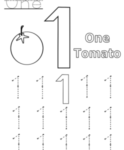number 1 worksheet playgroup