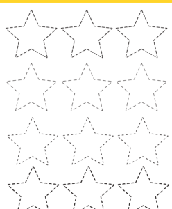 star tracing worksheet