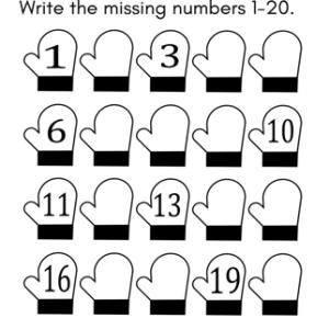 free missing number worksheet winter