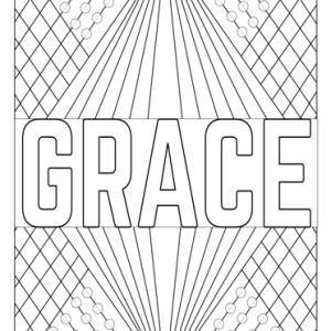 grace girl name coloring page